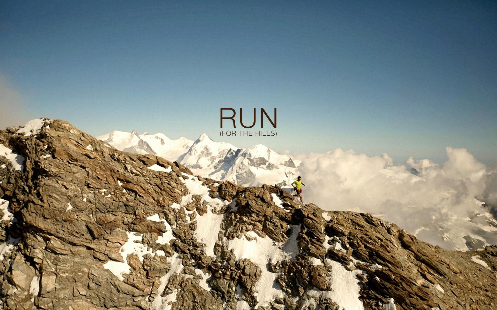 Run for the Hills Wallpaper
